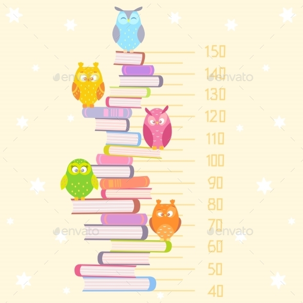 GraphicRiver Owls on Books 9497216