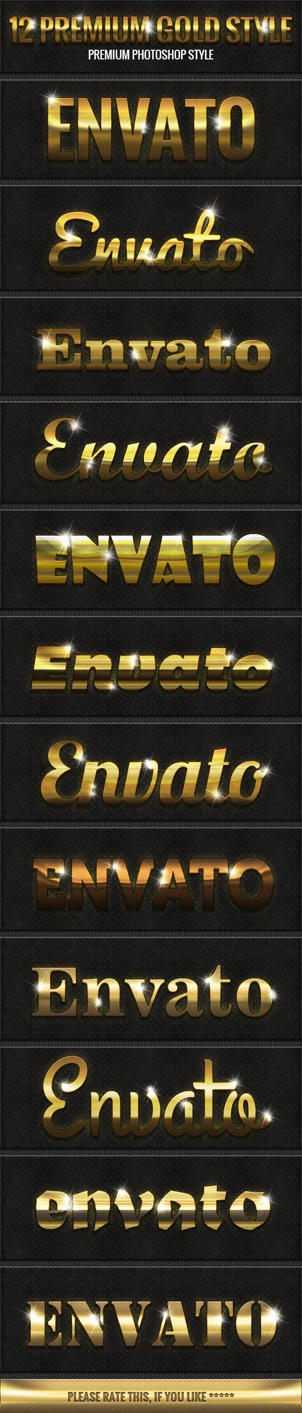 GraphicRiver 12 Premium Gold Style 9497260