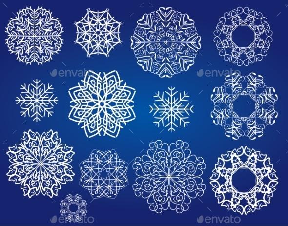 GraphicRiver Snowflakes Set 9497300