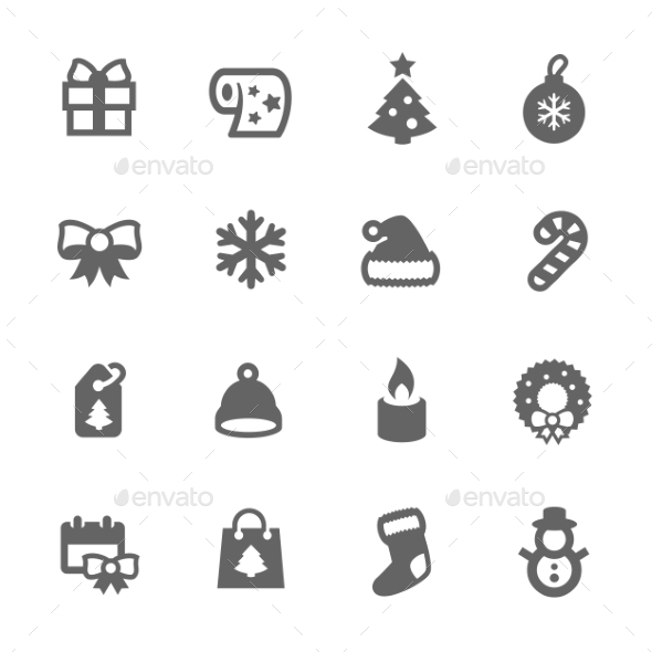 GraphicRiver New Year Icons 9497404