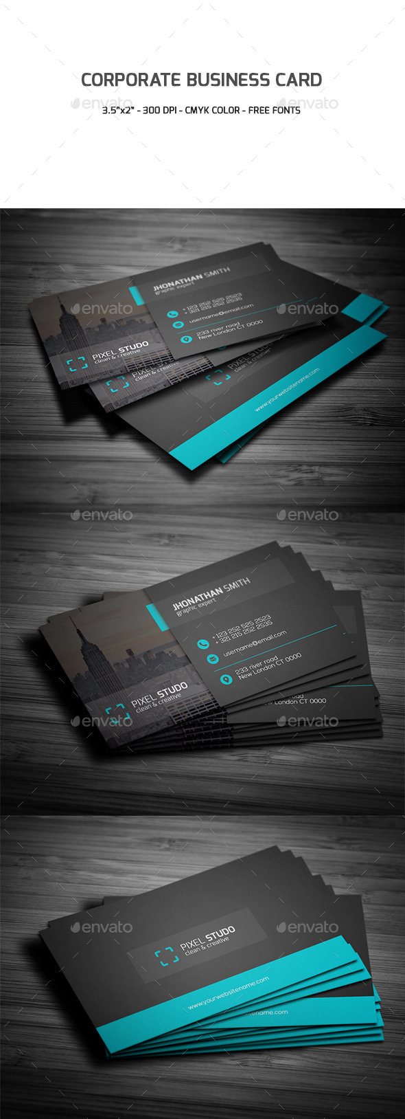 GraphicRiver Corporate Business Card 9497645