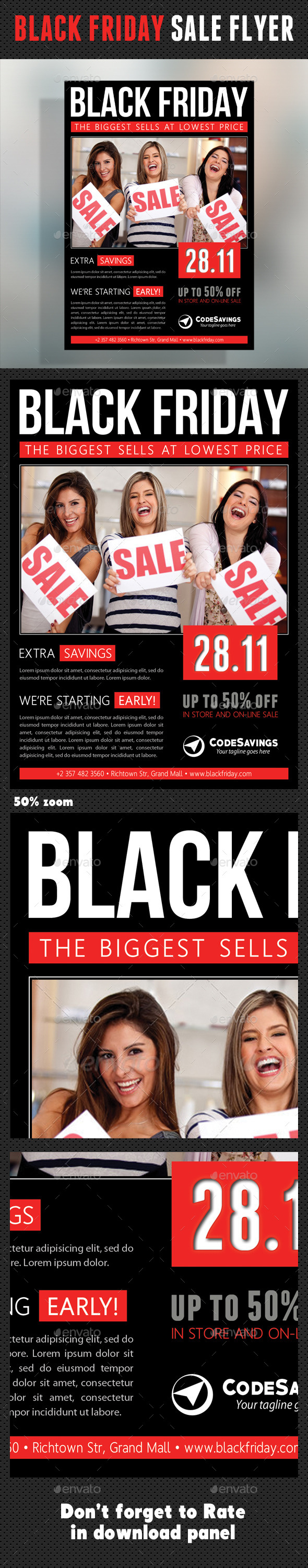 GraphicRiver Black Friday Flyer V02 9497665