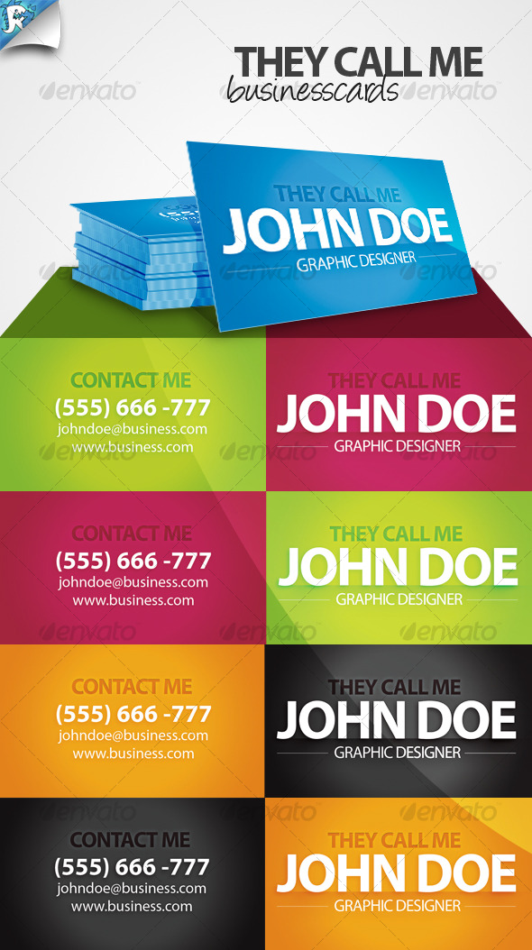 They Call Me - Business card - Creative Business Cards