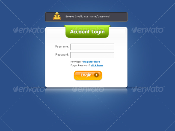 GraphicRiver Ultimate Web 2.0 Login Forms 39767