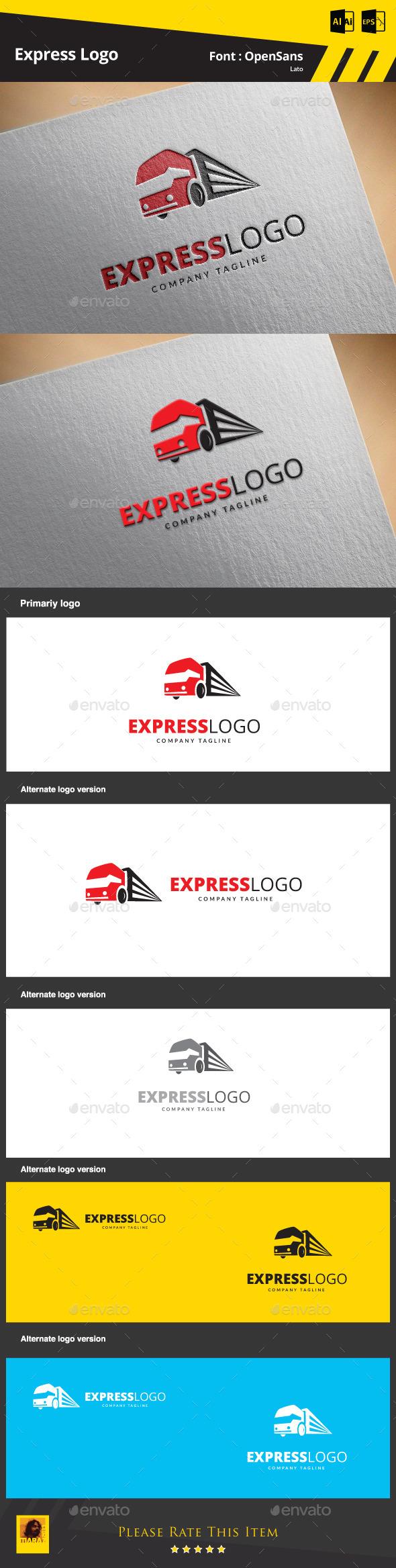 GraphicRiver Express Logo Template 9498504