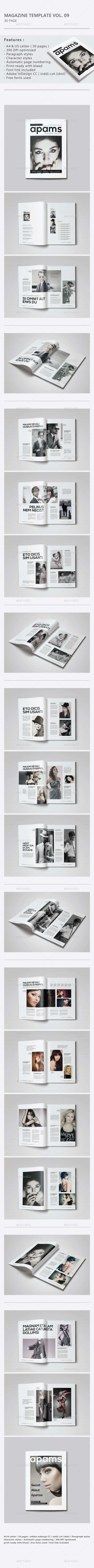 GraphicRiver Indesign Magazine Template Vol.09 9498512