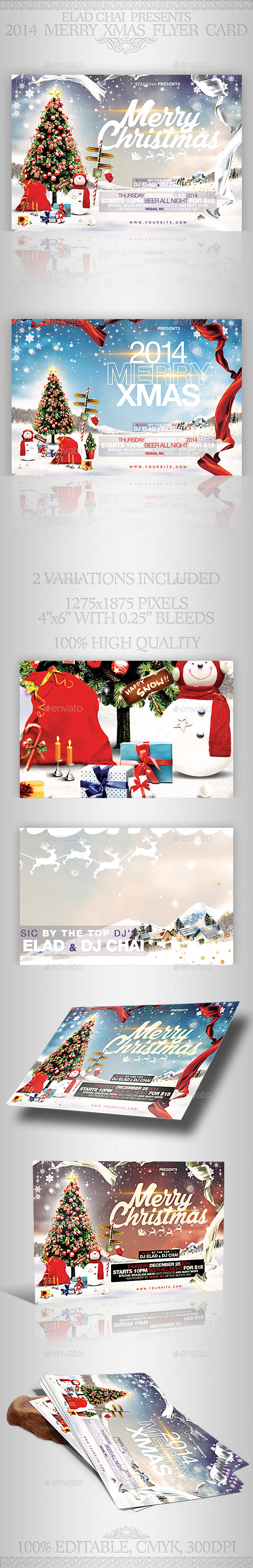 GraphicRiver 2014 Christmas Flyer Card Template 9447056