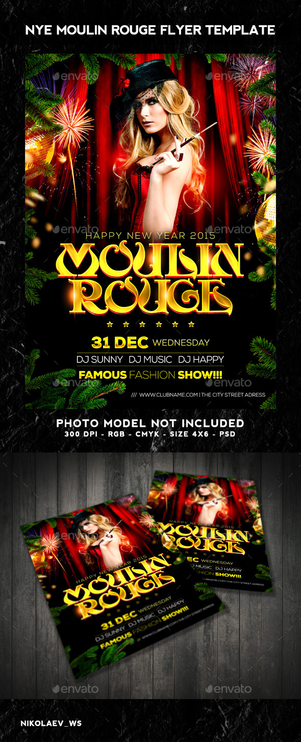 GraphicRiver NYE Moulin Rouge 2015 Flyer 9498613