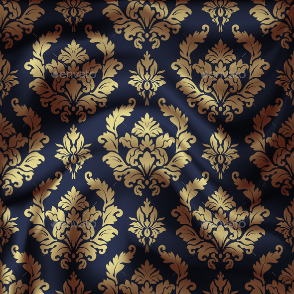 GraphicRiver Drapery Damask Textile Background 9498696