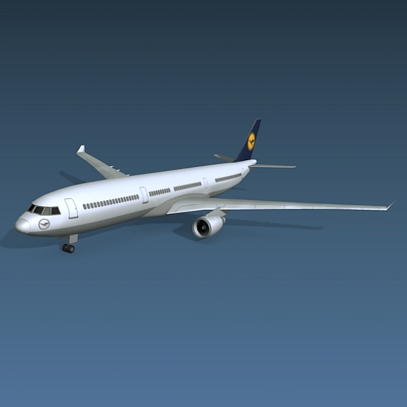 Airbus A330 commercial jetliner - 3DOcean Item for Sale