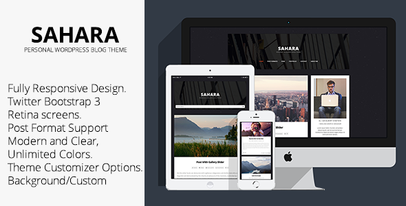 ThemeForest Sahara Personal WordPress Blog Theme 9282743