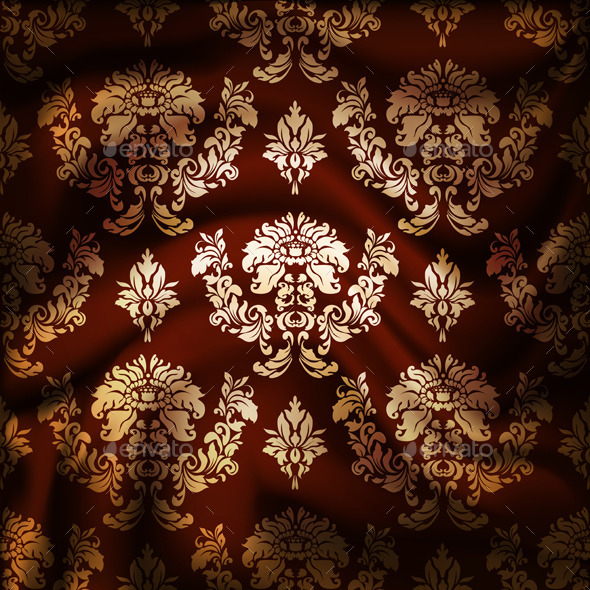 GraphicRiver Drapery Damask Textile Background 9498775