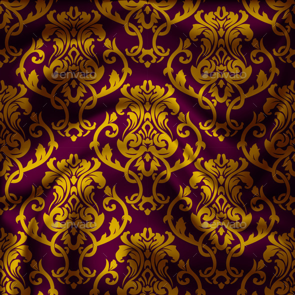 GraphicRiver Drapery Damask Textile Background 9498798
