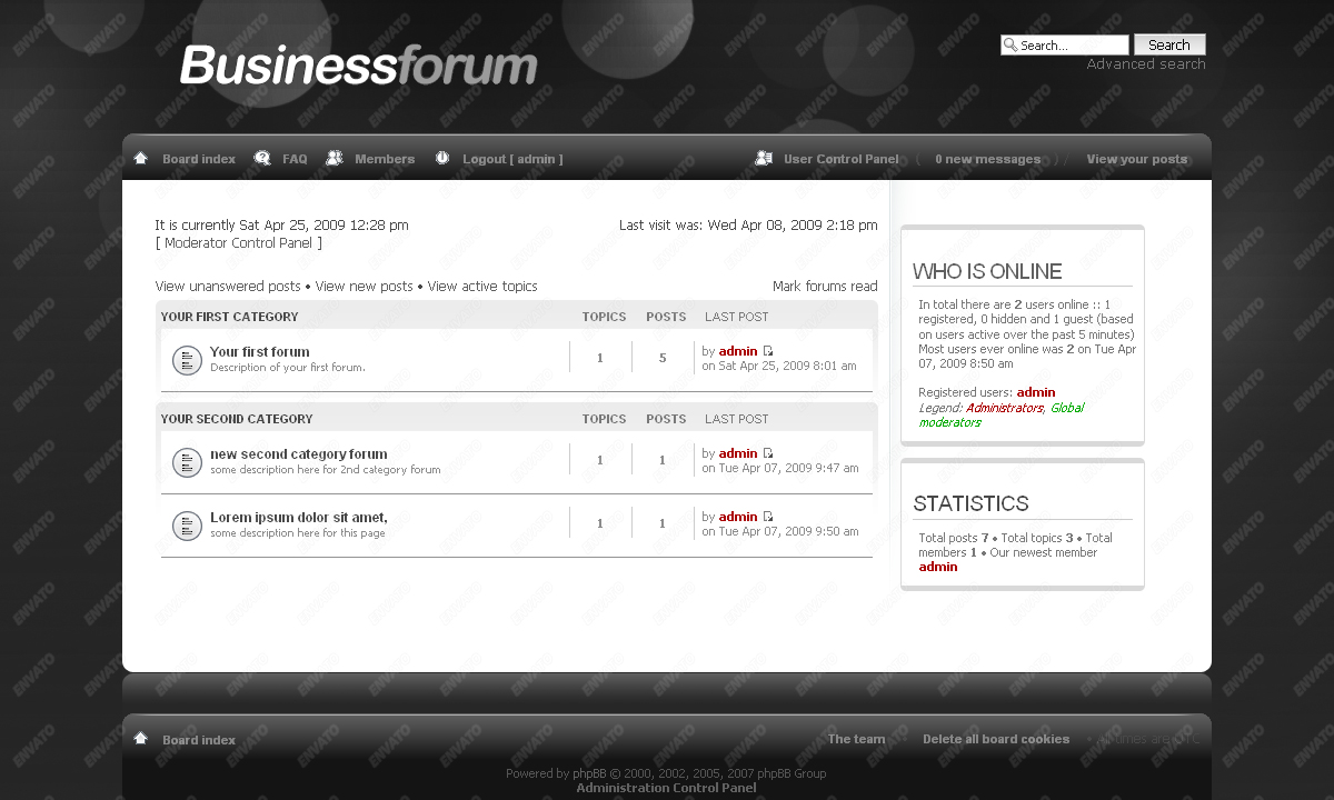 BusinessForum phpbb Skin