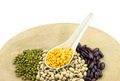 Various legumes with white spoon - PhotoDune Item for Sale