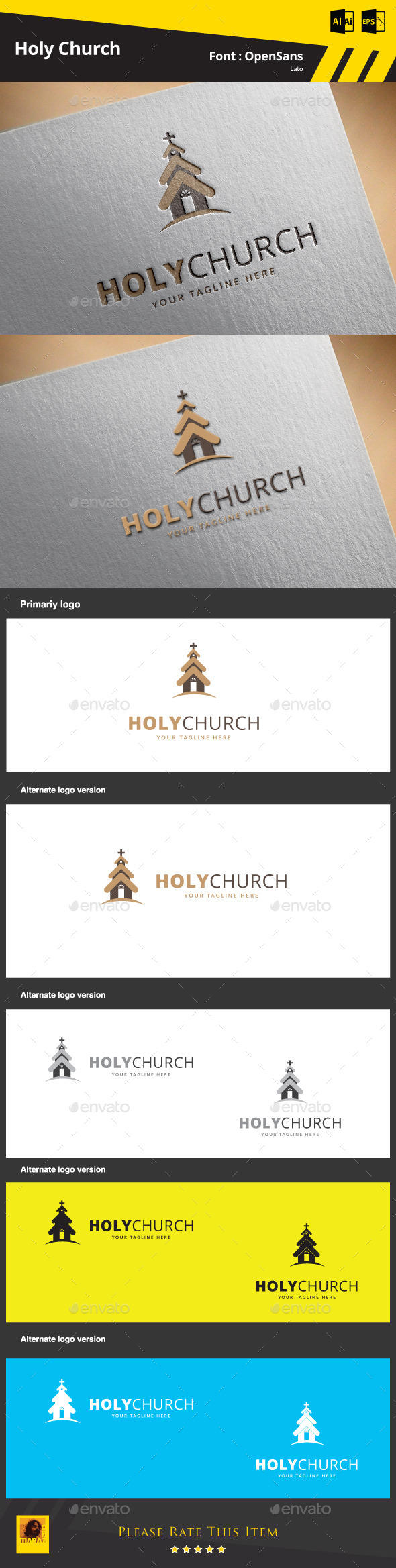 GraphicRiver Holy Church Logo Template 9498964