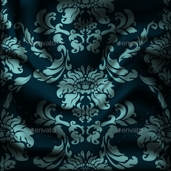 GraphicRiver Drapery Damask Textile Background 9498968