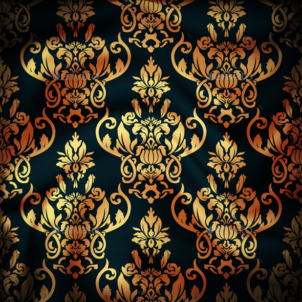 GraphicRiver Drapery Damask Textile Background 9499037