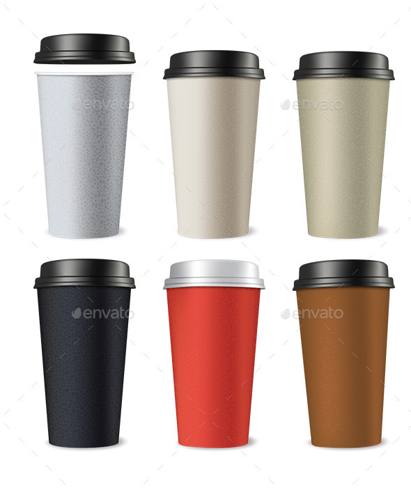 GraphicRiver Set of Paper Cups 9499073