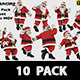 Santa Christmas Dancing Hip Hop Moves 10 Pack