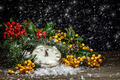 Christmas clock with winter decoration - PhotoDune Item for Sale