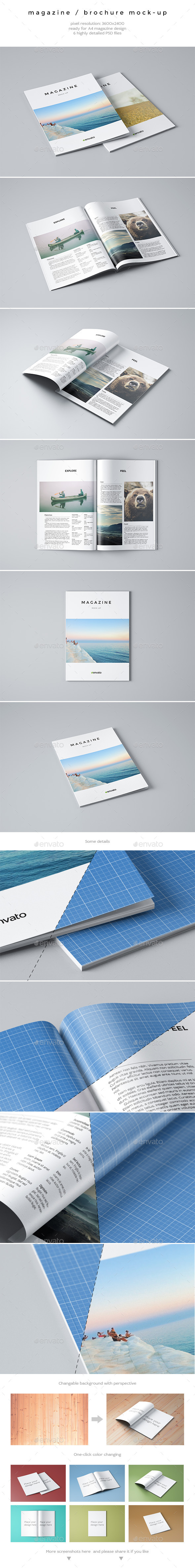 GraphicRiver Magazine Brochure Mock-Up 9445696