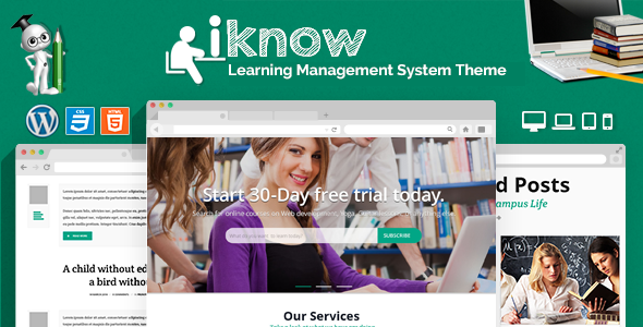 ThemeForest iKnow Learning Management System WP Theme 9499363