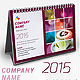 Desk Calendar 2015 V-2 - GraphicRiver Item for Sale