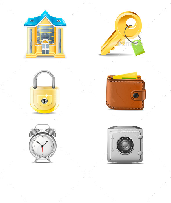 Real Estate Business Icons Vector