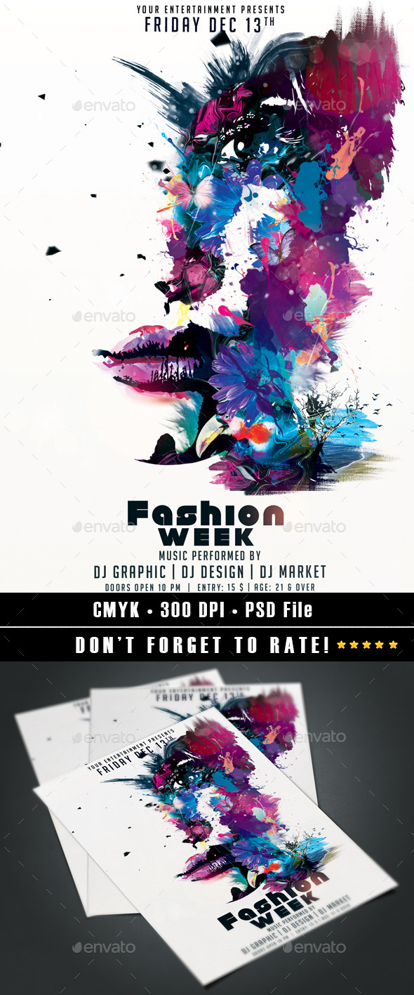 GraphicRiver Fashion Week flyer 9499437