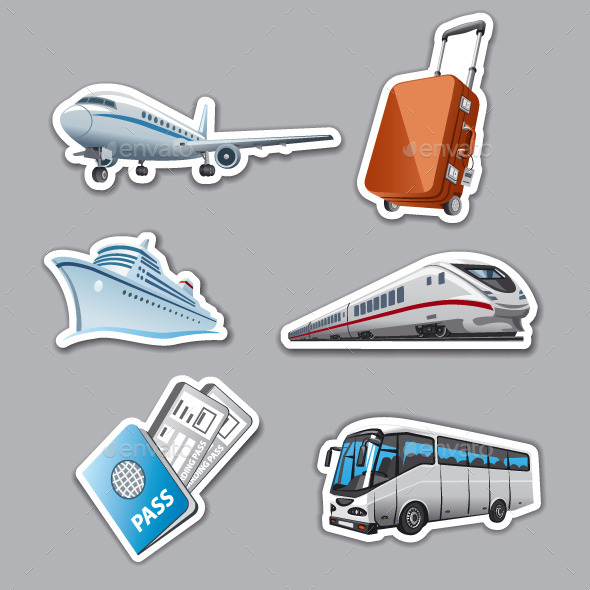 GraphicRiver Travel Stickers 9499501