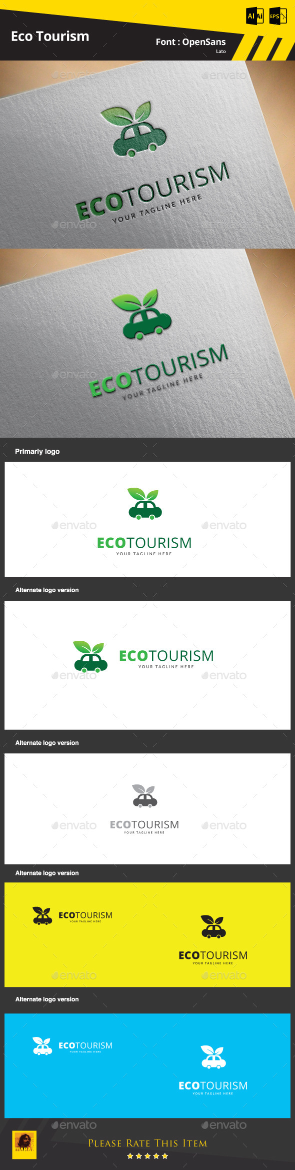 GraphicRiver Eco Tourism Logo Template 9499533