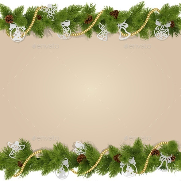 GraphicRiver Christmas Background with Decorations 9499554