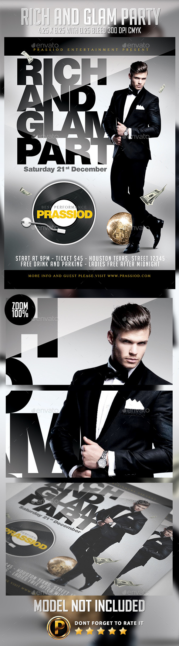 GraphicRiver Rich And Glam Party Flyer Template 9499563