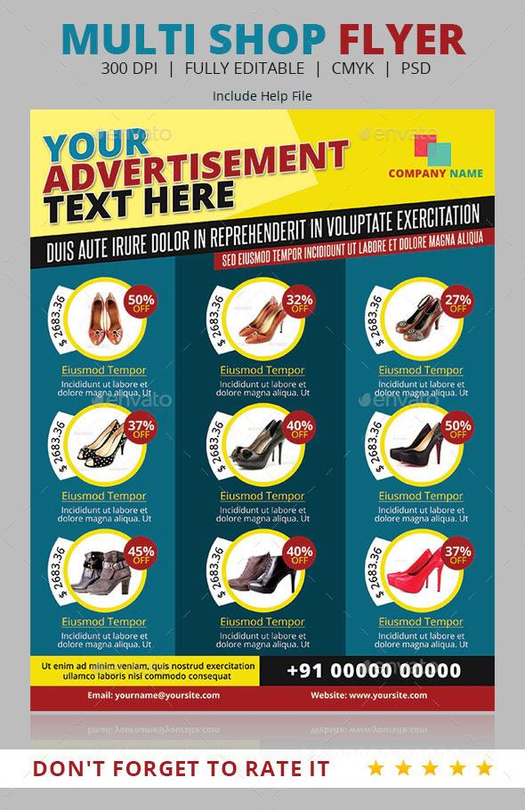 GraphicRiver Multi Shop Flyer Template 9499642