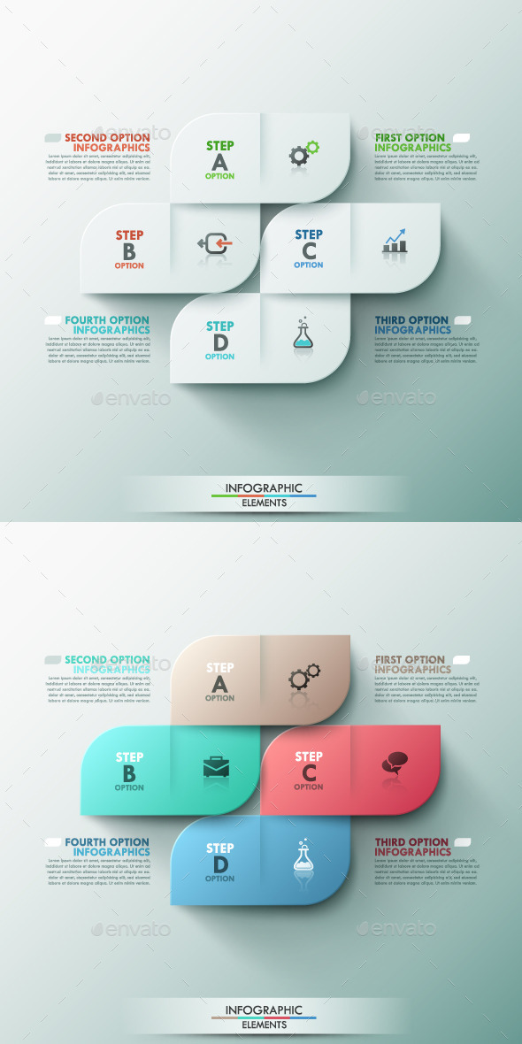 GraphicRiver Modern Infographic Options Template 2 Colors 9499643