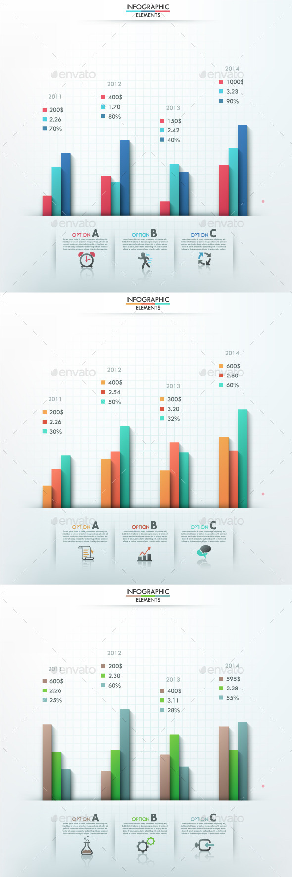 GraphicRiver Smart Infographic Options Template 3 Items 9499721