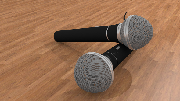 Microphone High detail model - 3DOcean Item for Sale