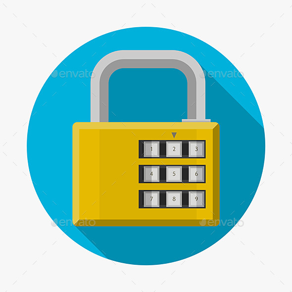 GraphicRiver Flat Icon for Padlock 9499827