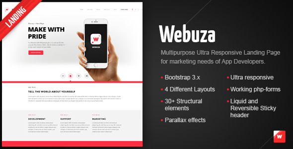ThemeForest Webuza Multipurpose Landing Page for Apps 9499861