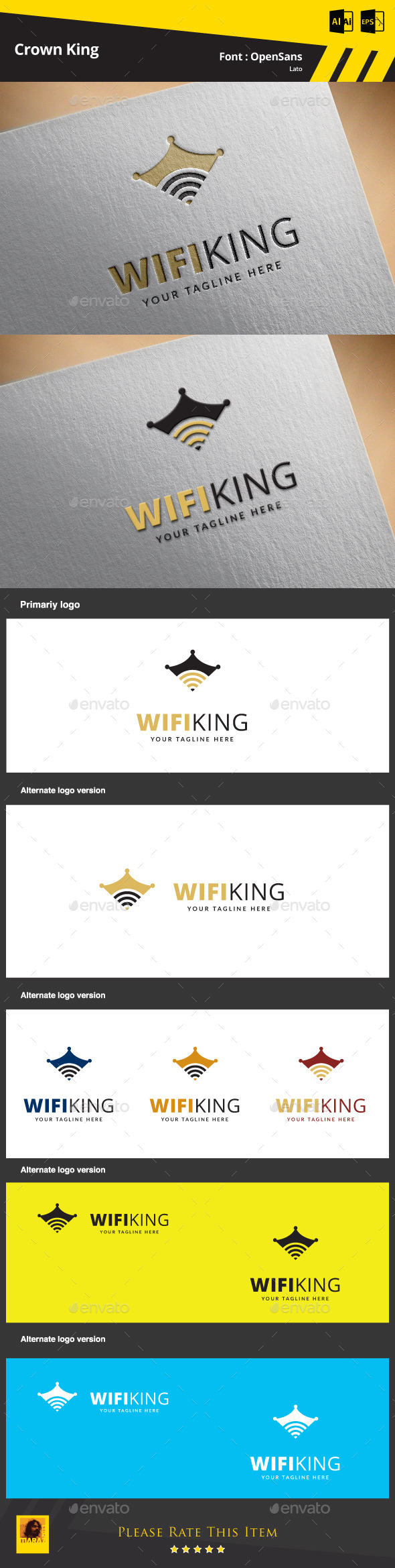 GraphicRiver Wifi King Logo Template 9500325