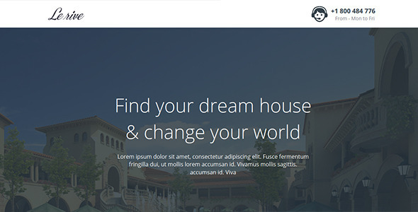 ThemeForest Lerive Real Estate Landing Page For Instapage 9500324