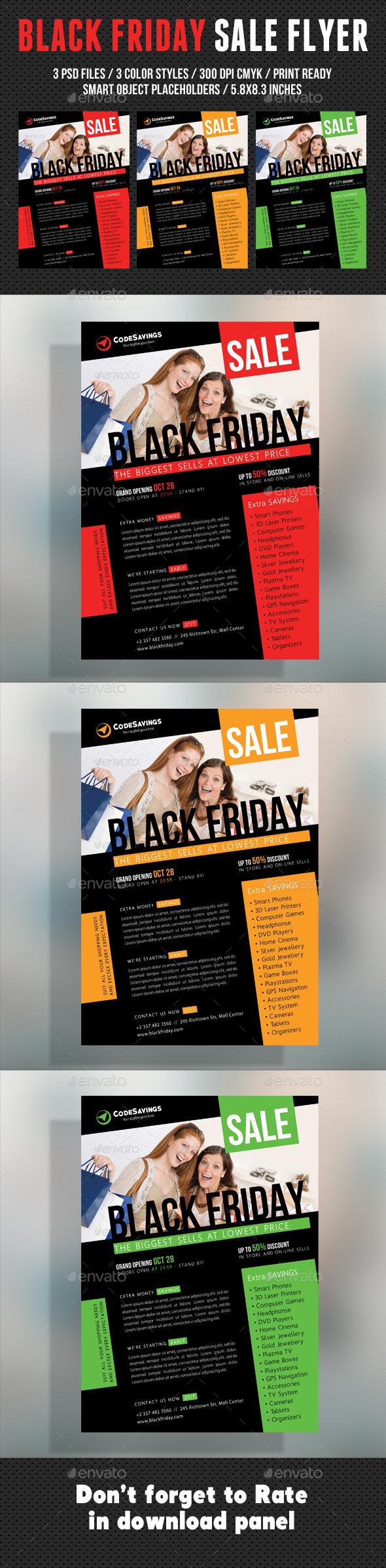 GraphicRiver Black Friday Flyer V03 9500586