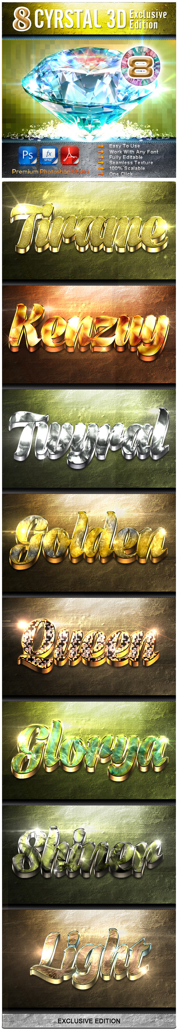 GraphicRiver 8 Cyrstal 3D Exclusive Edition Vol.8 9502239