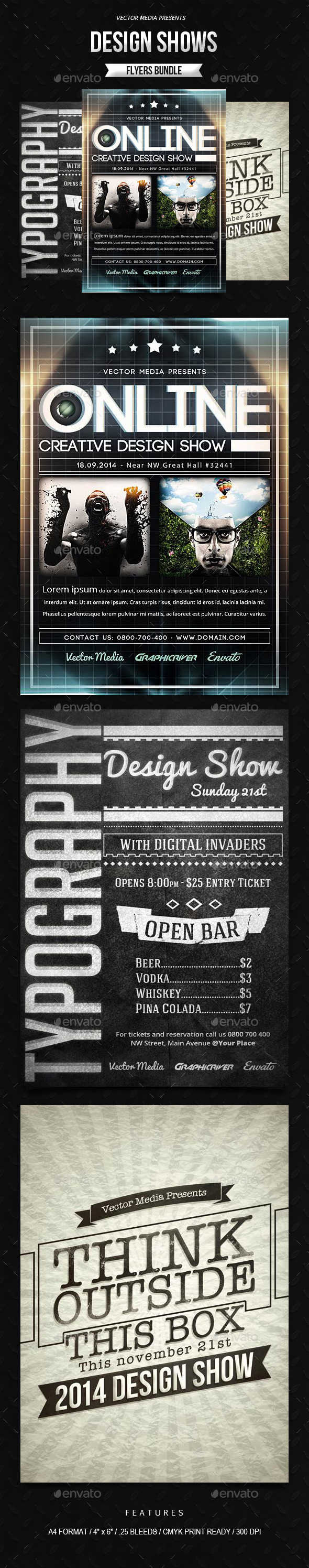GraphicRiver Design Shows Flyers Bundle 9502333