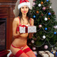 happy Santa-girl with presents - PhotoDune Item for Sale
