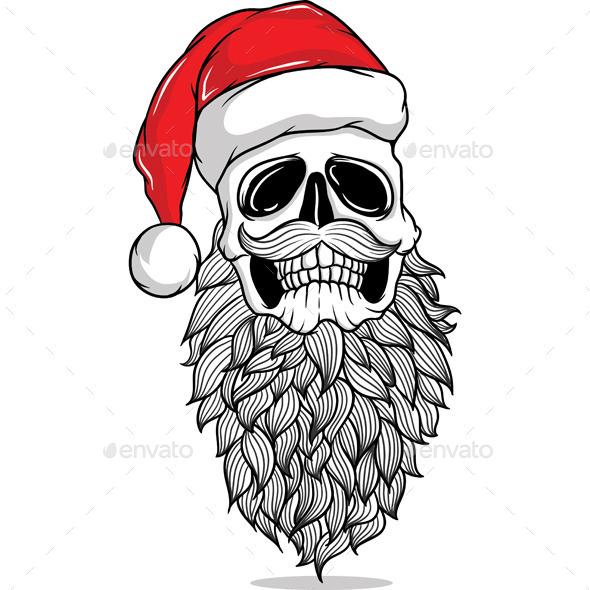 GraphicRiver Santa Skull 9502556