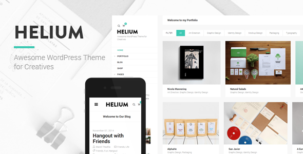 ThemeForest Helium Modern Portfolio & Blog Theme 9458672