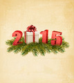 Holiday background with a present and 2015 - PhotoDune Item for Sale