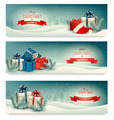 Three Christmas banners with presents - PhotoDune Item for Sale